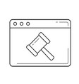 ecommerce line icon vector image