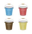 enamel bucket vector image