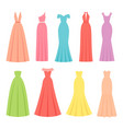 evening dresses for women female textile flat vector image