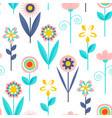 floral seamless patternmodern abstract design vector image