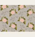 flower pattern of roses in a vector image vector image