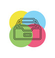 folder archive icon vector image