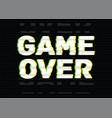 game over final phrase message inscription or vector image