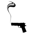 Graphic Smoking Gun vector image vector image