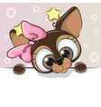 greeting card cute cartoon dog vector image