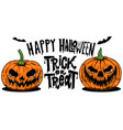 happy halloween trick or treat flyer template vector image