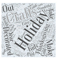 holiday crafts Word Cloud Concept vector image vector image