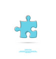 icon with jigsaw vector image