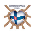 independence day of finland vector image vector image