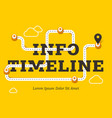 Info timeline business concept with winding road