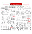 infographic chart and graphs sketches vector image vector image