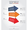 Infographics with arrows and icons vector image vector image