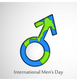 international mens day background vector image vector image