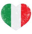 Italy heart retro flag vector image