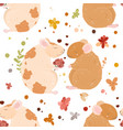 lovely rats in love seamless pattern date bouquet vector image