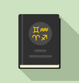 magic witch book icon flat style vector image vector image