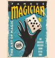 magician poster design vector image vector image
