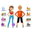 man and woman logo design template girl vector image vector image