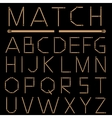 Matches Alphabet vector image