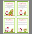 merry christmas santa helper vector image vector image