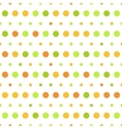 pattern colorful polka dots on white vector image vector image