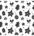 scandinavian christmas hand drawn seamless pattern vector image vector image