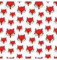 Seamless pattern with cute fox vector image vector image