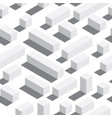 seamless pattern with isometric blocks and vector image