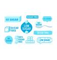 set 100 percent zero sugar free icons badges vector image vector image