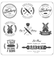 set bakery labels badges and design elements vector image vector image