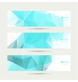 Set of banners with triangles and polygon mesh vector image