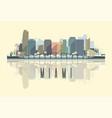 skyline miami city in usa vector image vector image