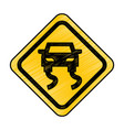 slippery road traffic signal icon vector image vector image