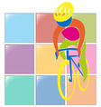 Sport icon design for cycling in color vector image vector image