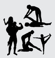 sport training silhouette vector image vector image