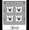 spot the difference black aquarius vector image vector image