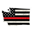 state washington firefighter support flag vector image vector image