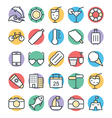 Summer Cool Icons 3 vector image vector image
