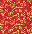 Sweets red pattern vector image vector image