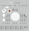 Table setting vector image