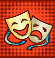 theatrical masks comic book style vector image vector image