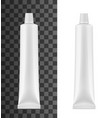tube for toothpaste or cream mockup vector image