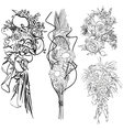 wedding bouquet set vector image vector image