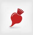 red beet symbol vector image