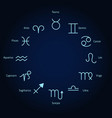set zodiac sign set zodiac sign vector image