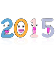 2015 year cartoon vector image vector image