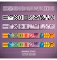 Abstract ornamental stripes vector image