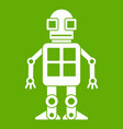 artificial intelligence concept icon green vector image vector image
