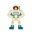astronaut angry emoji spaceman aggressive emotion vector image vector image