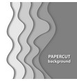 background with white paper cut shapes 3d vector image vector image